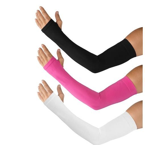 Sun Protection Sleeves - Black/White/Bright Pink