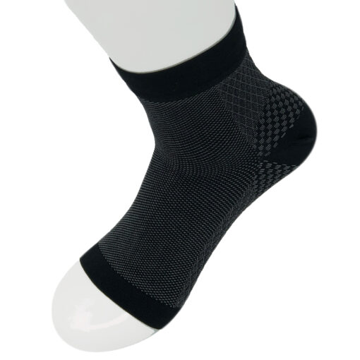 Plantar Fasciitis Ankle Sock Black One Pair