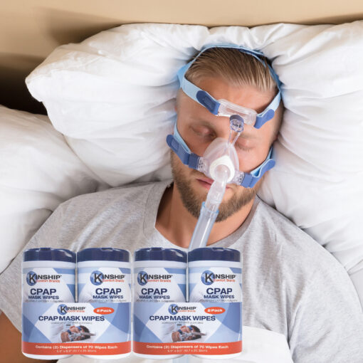 CPAP Wipes by Kinship Comfort Brands - 4 Canisters